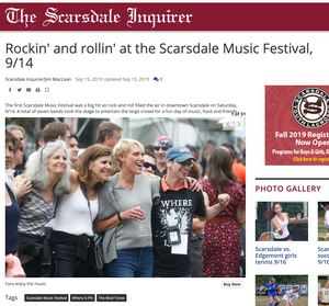 Rockin' and rollin' at the Scarsdale Music Festival, 9/14