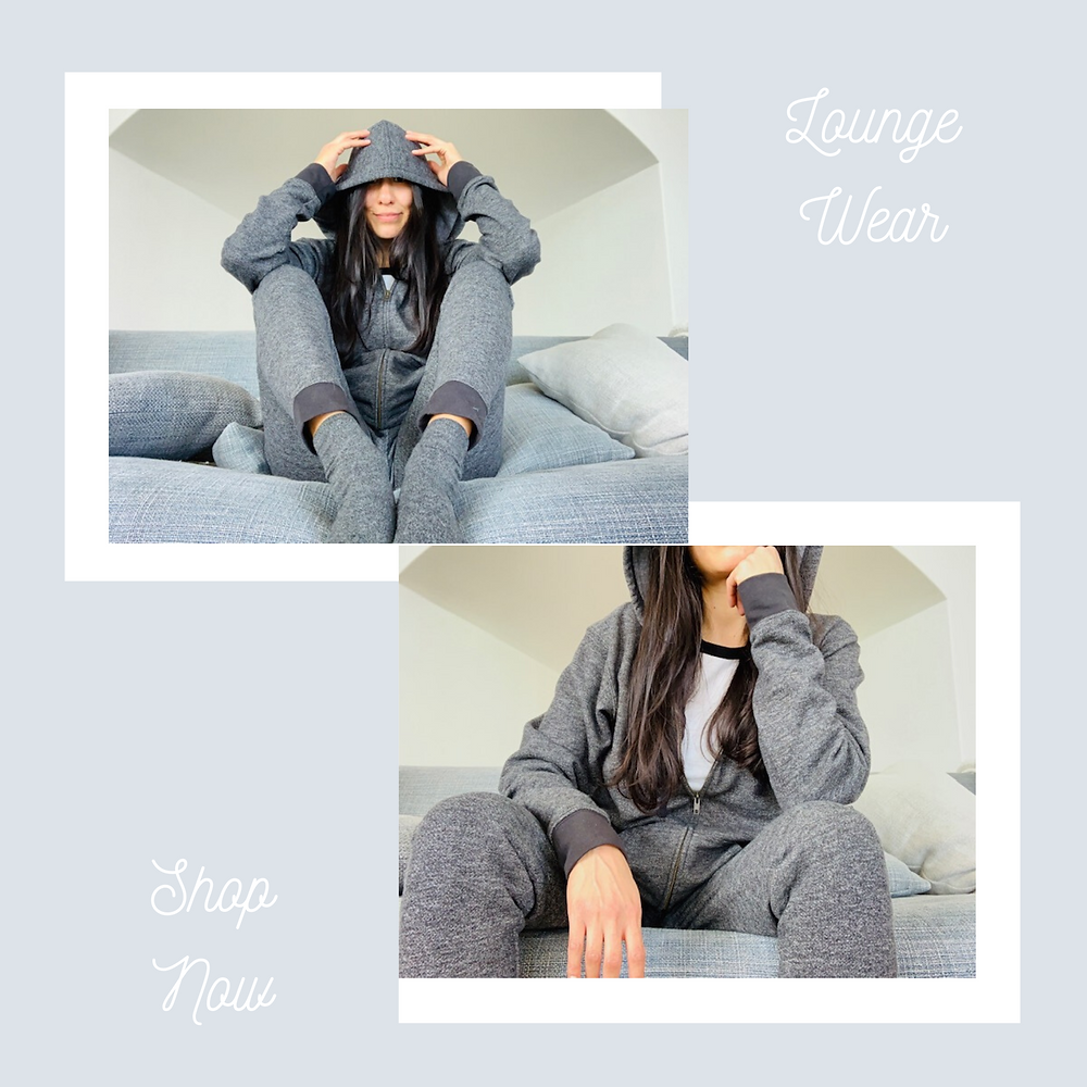 Girl in sweats and lounge wear