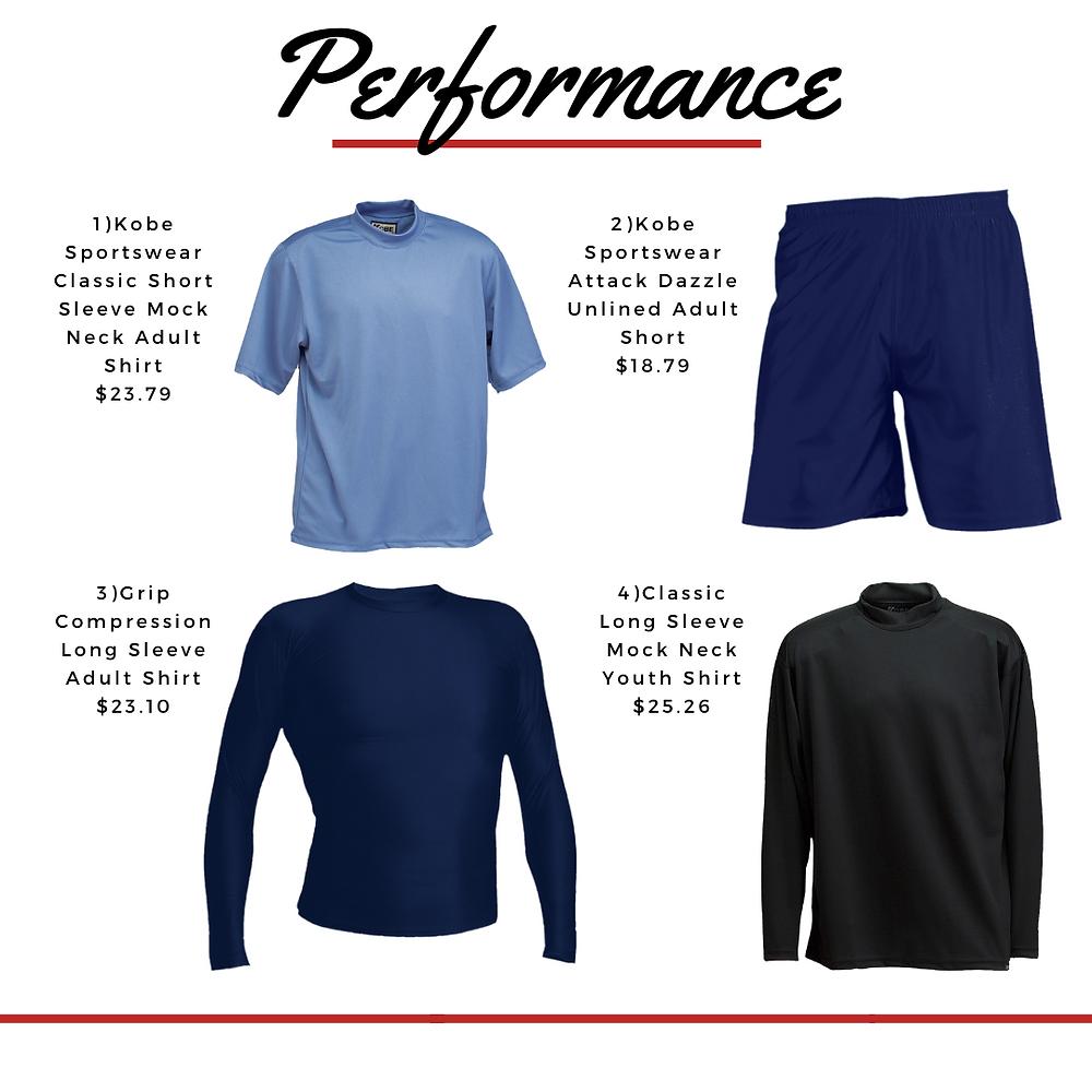 Performance sports wear