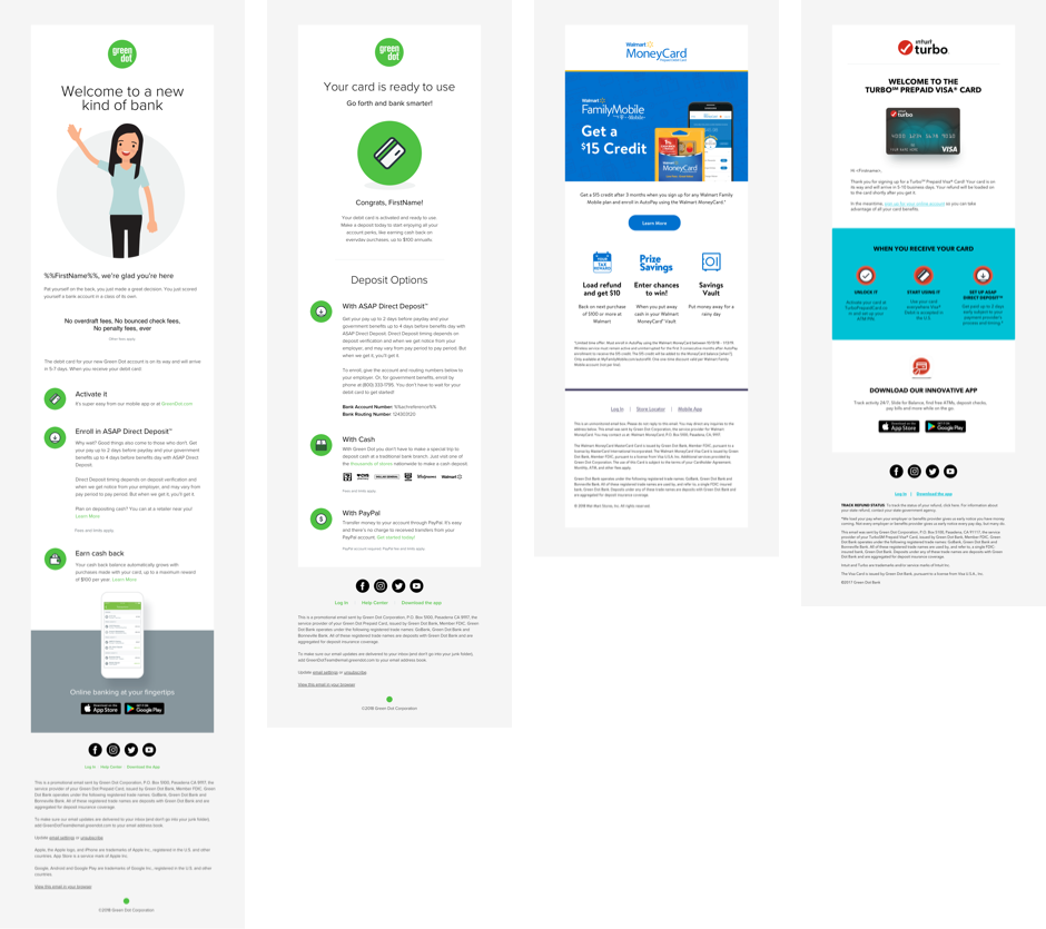 Green Dot Email Examples