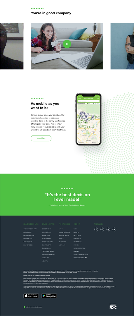 Green Dot Homepage 2