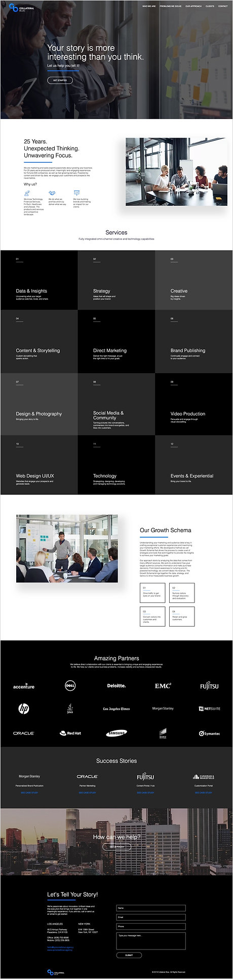 Collateral Blue Homepage