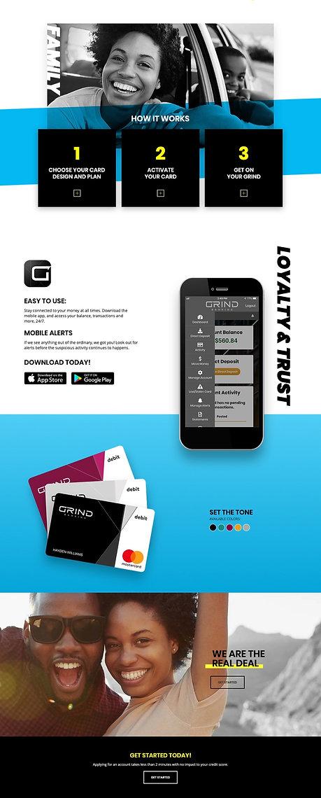 GRIND Banking homepage 2