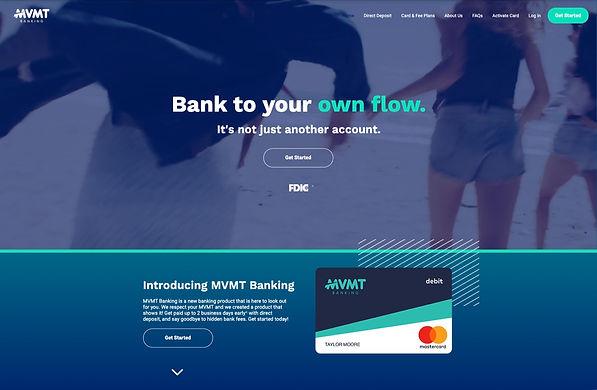MVMT Banking Homepage