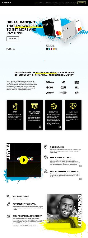 GRIND Banking homepage 1