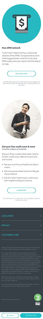 Turbo Debit Mobile Homepage 2