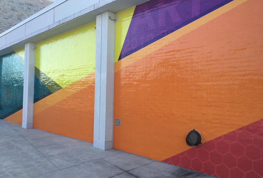 Moss Arts Center - wall mural