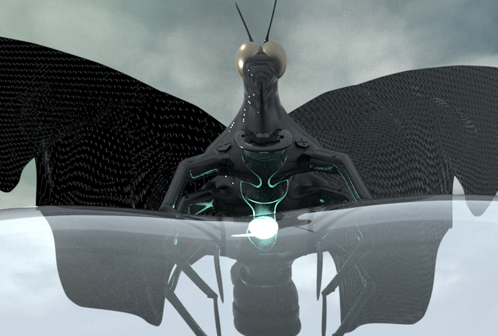 3D character model - cyborg butterfly