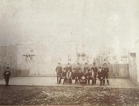 Équipe de croquet ©Wilfrid Pilon, photographe Archives Musée de Lachine [P27-B]