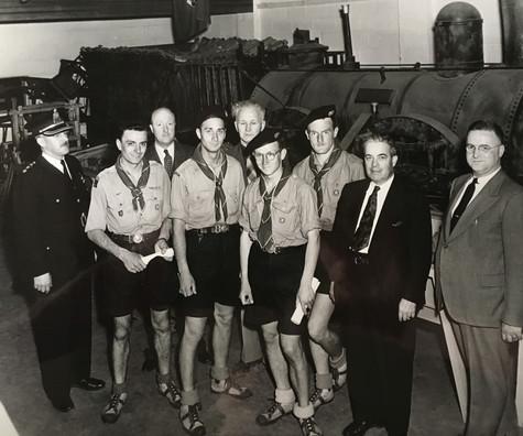 Scouts au Musée de Lachine 3 juin 1949 © C.A. Barbier Archives Musée de Lachine [P21-A]