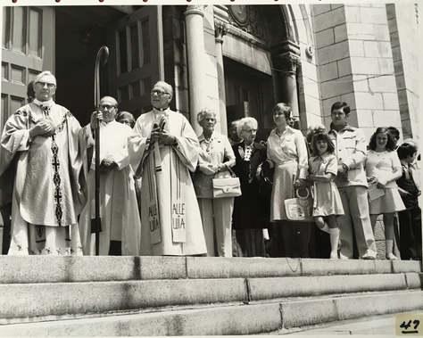 Messe à l'Église des Saints-Anges pour le 300e anniversaire de Lachine  1967 © Cité de Lachine  Archives Musée de Lachine [P24-B]