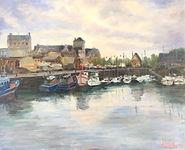 Deauvilles bassin oil on board 16X20.jpg