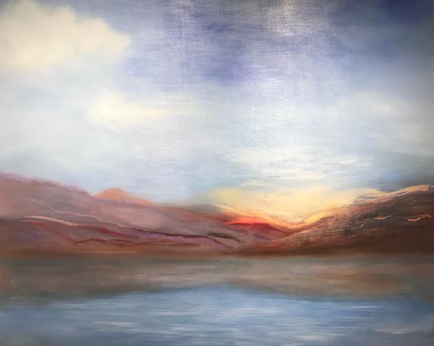 Sea of Galilee 48X48 Oil on wood