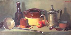 Ladle with silver tea pot.jpeg
