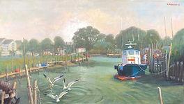 Pilot Boat 16X28 oil on Canvas.jpeg