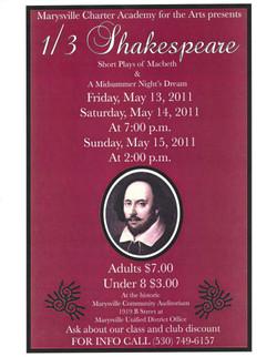 One Third Shakespeare 2011