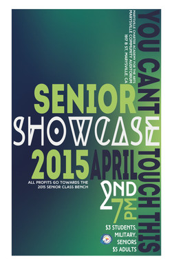 Senior Showcase 2015
