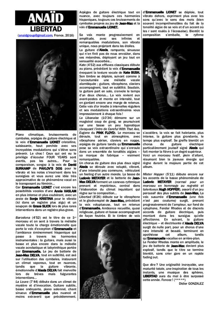ANAID - LIBERTAD & Interview Jean-Max &