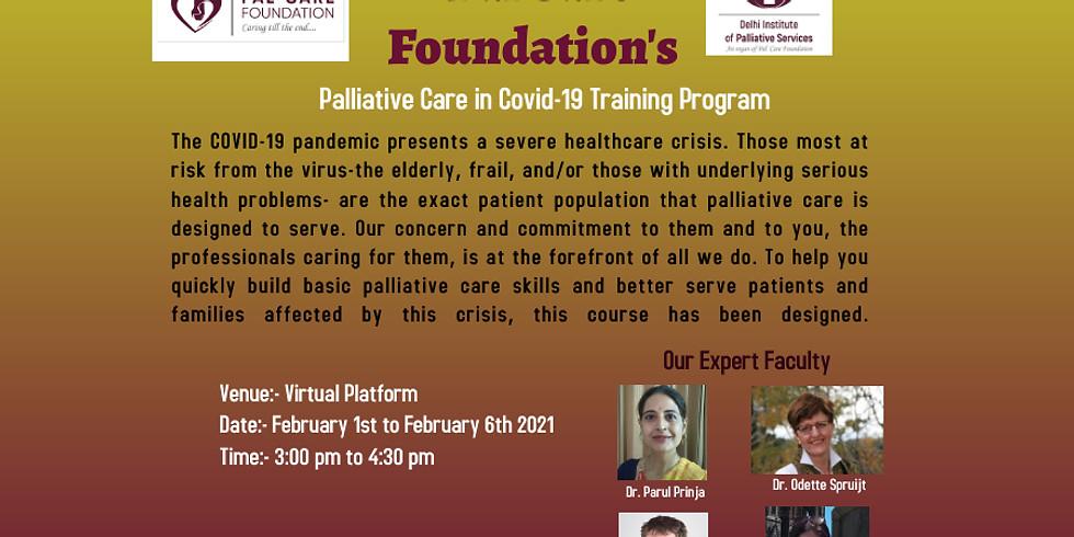 Palliative Care in Covid 19 Training Program
