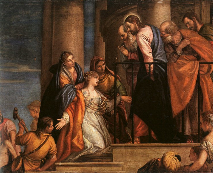Christ and the woman with the issue of blood