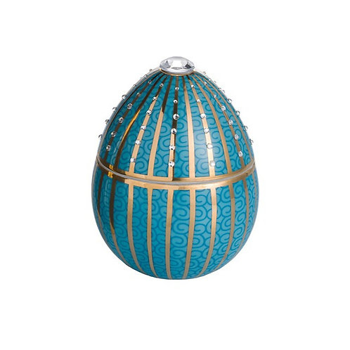 Fabergé Blue Egg With Golden Stripe