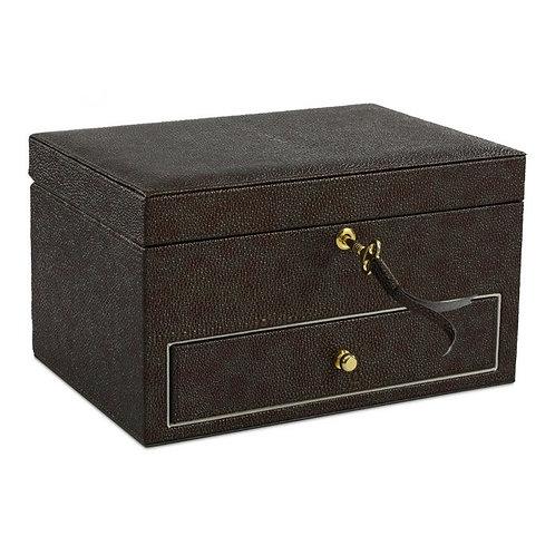 Jewelry Box PU Leather Stingray Copper