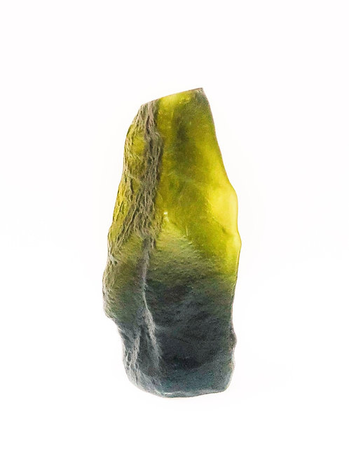 Glass Vase Organic Sandblasted Green