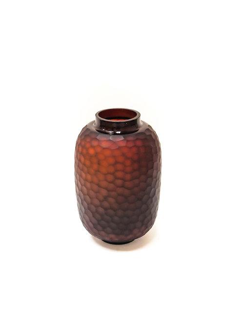 Carved Glass Vase