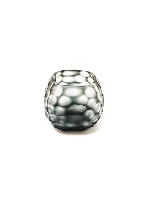 Carved Glass T-light Holder
