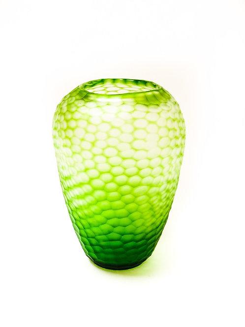 Organic Carved Vase Light Green