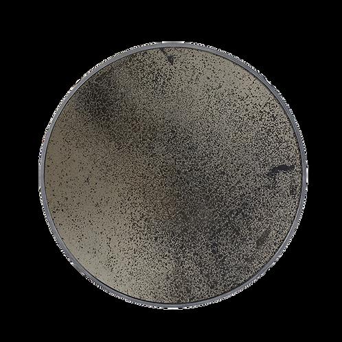 Notre Monde Bronze heavy aged round mirror