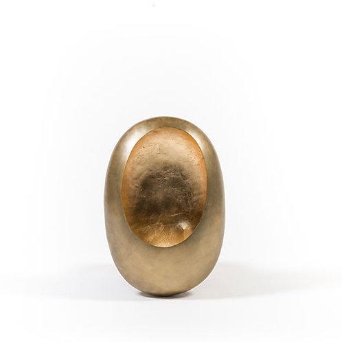 Wall T – Light Holder Egg Brass