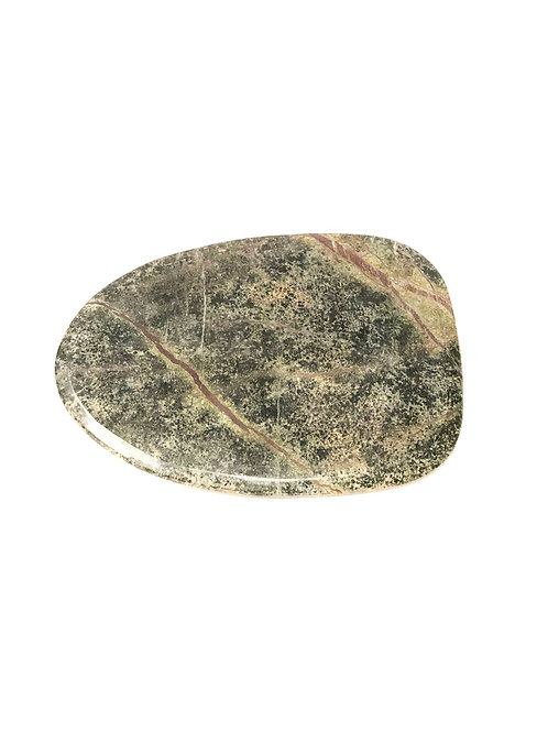 Plate Marble Green Forest