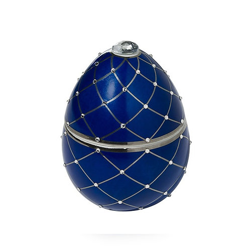 Fabergé Blue Egg With Silver Stripe