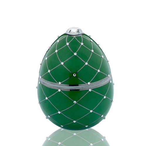 Fabergé Green Egg With Silver Stripe