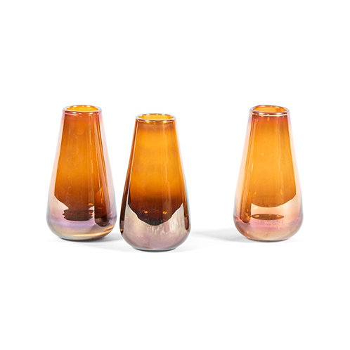 Small Vase Amber Luster