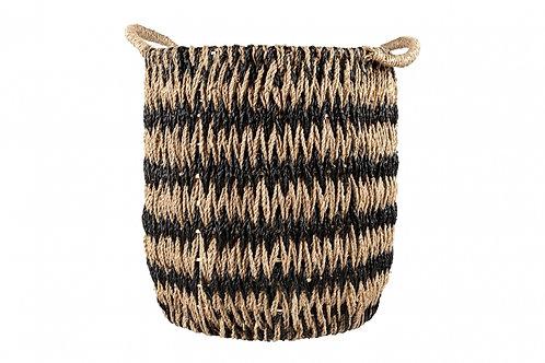 Basket Black and Natural