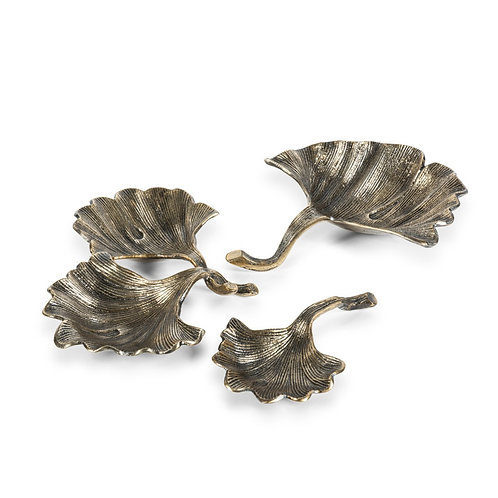 Ginkgo Leaf Antique Brass