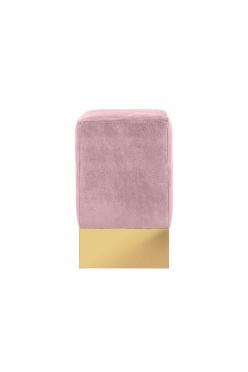 Stella Stool Pink Velvet