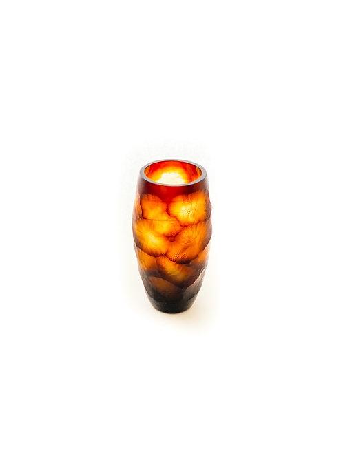 Carved Vase Amber