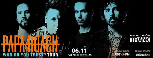 TRANK Live Poster 20190611 Papa Roach Vi