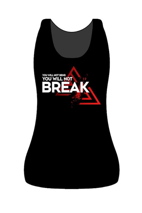 """TRANK T-shirt Women """"Bend or Break"""" Black"""