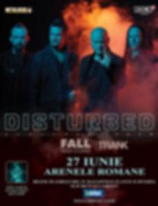TRANK Live Poster 20190627 Disturbed Buc