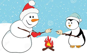 snowman-penguin-roasting-marshmallows-cu