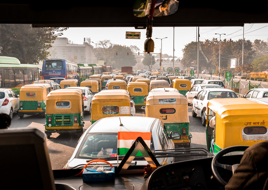 Auto rickshaws, as far as the eye can see. With an estimated 1.3 billion people living in 28 states and 9 union territories, India is the second most populous country in the world, and it is expected to overtake China in the next few years.