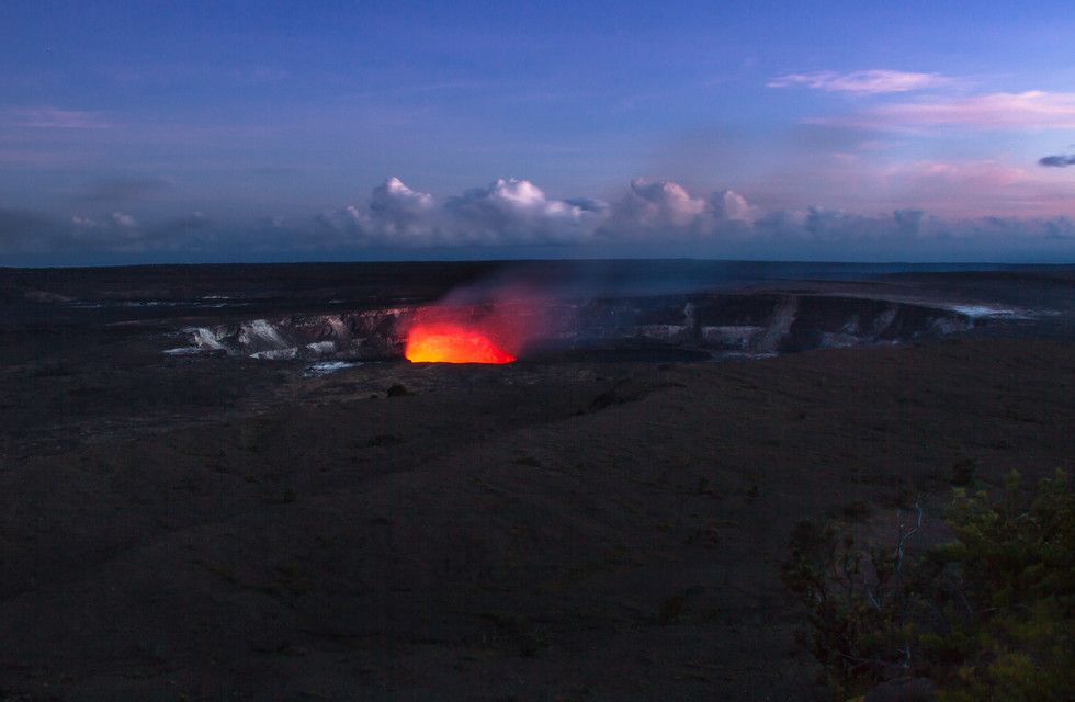 A NIGHT AT THE VOLCANO
