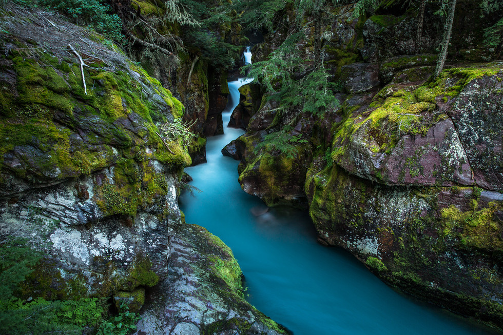 AN AFTERNOON AT AVALANCHE CREEK