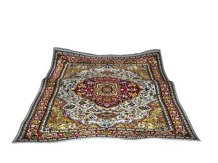 turkish carpet isolated on white backgro