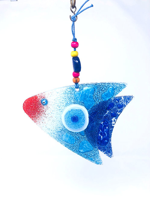 FISH WITH ALL SEEING EYE WALL HANGING