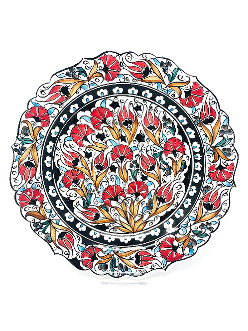 TRADITIONAL KÜTAHYA PLATE TULIP DESIGN